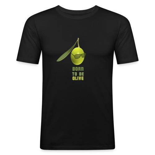 Discolive noir homme (près du body) - T-shirt près du corps Homme
