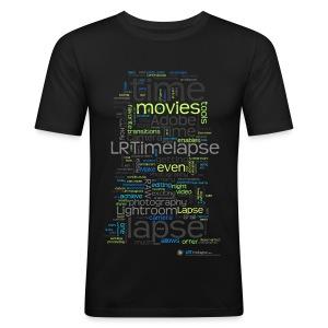 T-Shirt Time Lapse Cloud - Grün/Diverse Farben - Männer Slim Fit T-Shirt