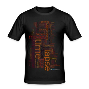 T-Shirt Time Lapse Cloud - Rot/Diverse Farben - Männer Slim Fit T-Shirt