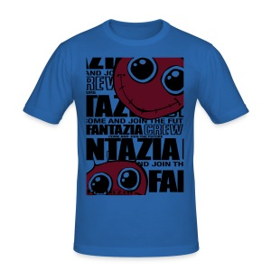Fantazia Smiley Crew newspaper print - Men's Slim Fit T-Shirt