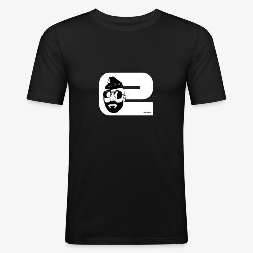Colour code - e blanc - T-shirt près du corps Homme