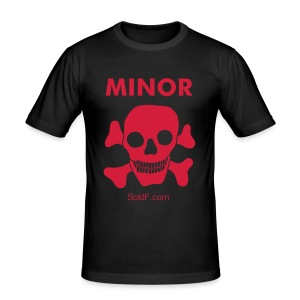 T-shirt MINOR - Slim Fit T-shirt herr