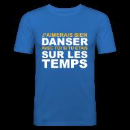 Tee shirts ~ Tee shirt près du corps Homme ~ Danser sur les temps.