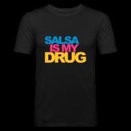 Tee shirts ~ Tee shirt près du corps Homme ~ Salsa is my drug