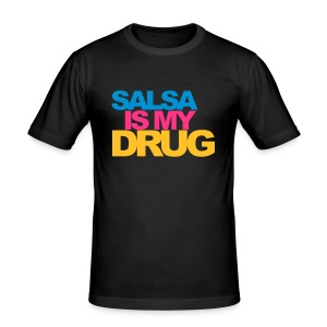 Salsa is my drug - Tee shirt près du corps Homme