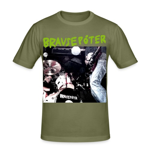 Brausepöter grüne Schrift - Männer Slim Fit T-Shirt