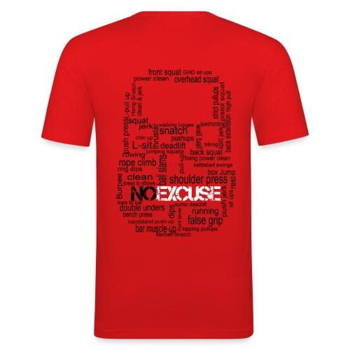 Kettlebell Rouge Dos - T-shirt près du corps Homme