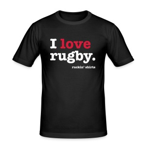 I Love Rugby - Men's Slim Fit T-Shirt