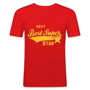 Red Super Star T-Shirt - Men's Slim Fit T-Shirt