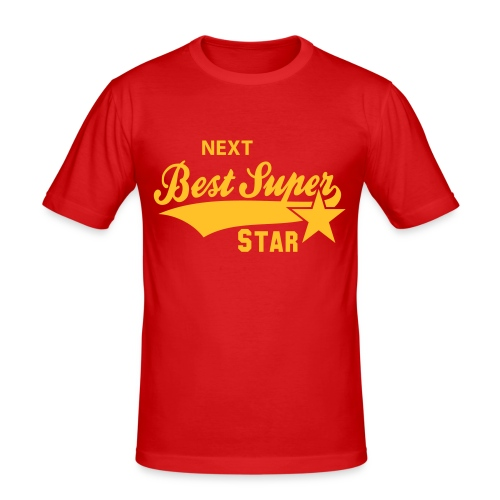Red Super Star T-Shirt - Men's Slim Fit T-Shirt