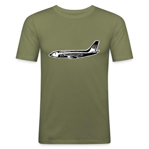 737 fish - Slim Fit T-skjorte for menn