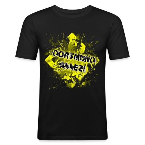 Slim T-Shirt Dortmund Allez! - Männer Slim Fit T-Shirt