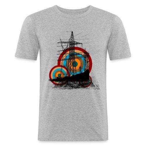 Puccilicious Design T-Shirt Electric - Männer Slim Fit T-Shirt