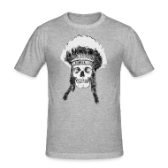 Koszulki ~ Obcisła koszulka męska ~ skull indian headdress - czaszka