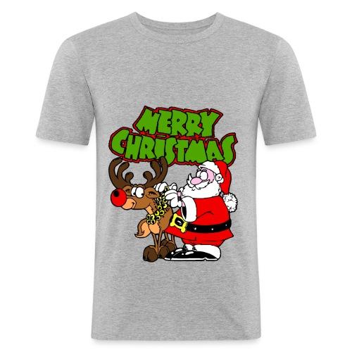 T shirt homme merry christmas - T-shirt près du corps Homme