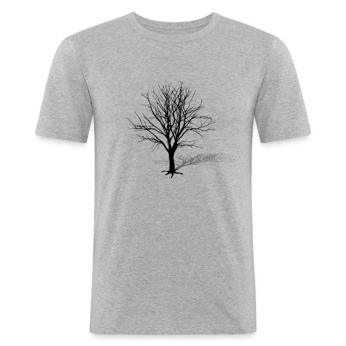 natur t-shirt baum silhouette winter schatten skelett tree - Männer Slim Fit T-Shirt