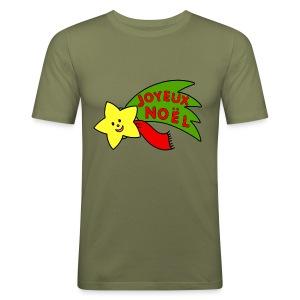 T shirt homme joyeux noel - Tee shirt près du corps Homme