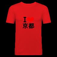 T-Shirts ~ Men's Slim Fit T-Shirt ~ I Love Kyoto