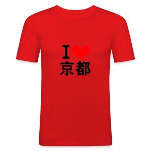I Love Kyoto - Men's Slim Fit T-Shirt
