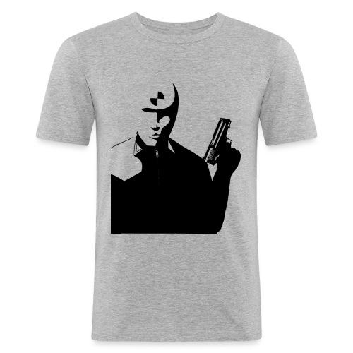 T-shirt Homme Près du corps Cobayes avec découpe de James005 - Tee shirt près du corps Homme