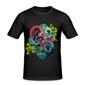 Music Swirl - Slim Fit  T-Shirt - Männer Slim Fit T-Shirt