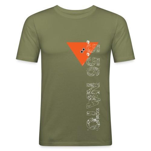 .5.56 NATO VERTICAL blanc - T-shirt près du corps Homme