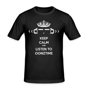 Keep Calm Oonztime TS Fit - Men's Slim Fit T-Shirt