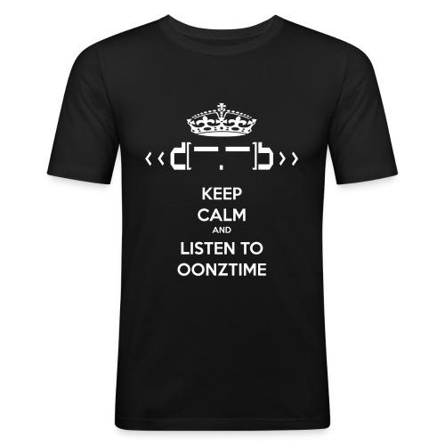 Keep Calm Oonztime TS Fit - Men's Slim Fit T-Shirt