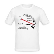 T-Shirts ~ Männer Slim Fit T-Shirt ~ 16Vampir Turbo Tacho Extrem Tuning by Boba-Motoring