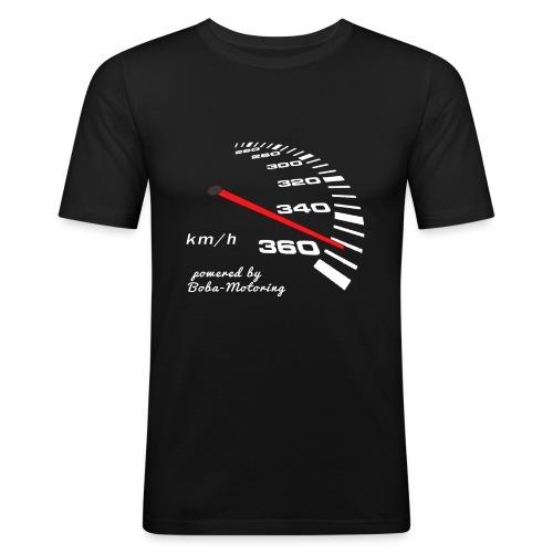 Turbo Tacho Extrem Tuning weißes Design - Männer Slim Fit T-Shirt