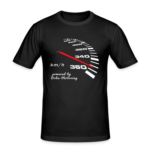 Turbo Tacho Extrem Tuning weißes Design - Männer Slim Fit T-Shirt