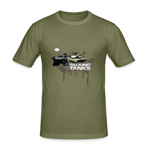 Talking Tanks T-shirt - Men's Slim Fit T-Shirt
