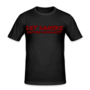 Det Danske YouTube Community (unisex) - Herre Slim Fit T-Shirt