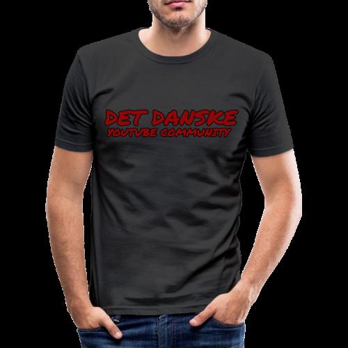 Det Danske YouTube Community (unisex) - Herre Slim Fit T-Shirt