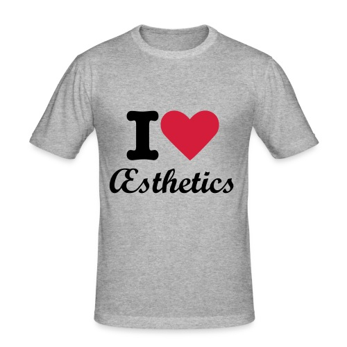 Complete Aesthetics, I 'heart' Aesthetics Tee - Men's Slim Fit T-Shirt