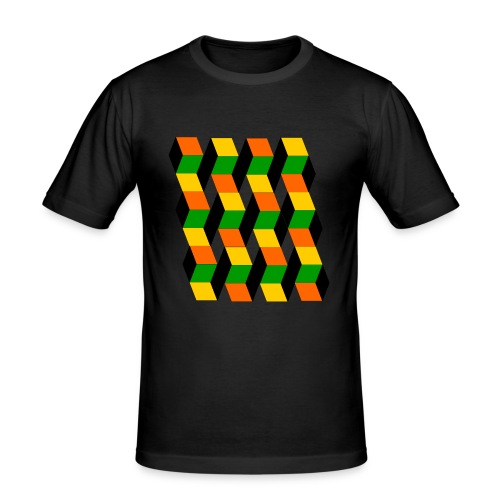 3D cube - Men's Slim Fit T-Shirt