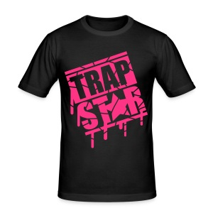 Black Trap Star Premium T-Shirt Mens Medium  - Men's Slim Fit T-Shirt