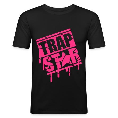 Black Trap Star Premium T-Shirt Mens Medium  - Men's Slim Fit T-Shirt