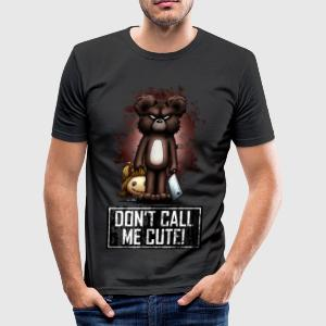 Teddy - Don't Call Me Cute (Color) Tee shirts - Tee shirt près du corps Homme