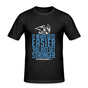 It never gets easier | Mens Tee - Men's Slim Fit T-Shirt