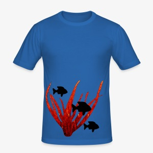 Poissons et corail - Men's Slim Fit T-Shirt