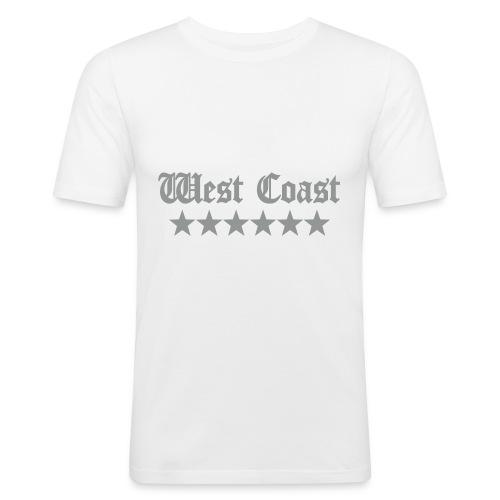 T-shirt homme logo argent mat - T-shirt près du corps Homme