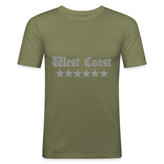 T-shirt homme logo argent mat