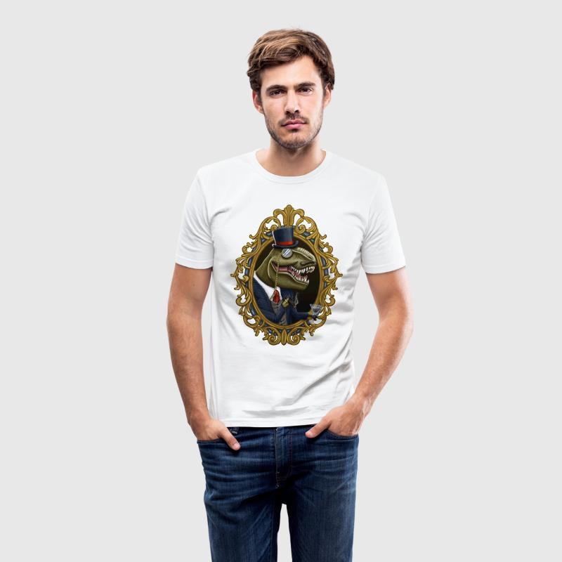 Hvid Dinosir T-shirts - Herre Slim Fit T-Shirt