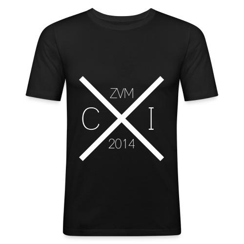 Herren Slim Fit T-Shirt (Weißer Aufdruck): CzumI 2014 - Männer Slim Fit T-Shirt