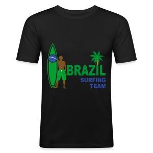 Brazil surfing team - Men's Slim Fit T-Shirt