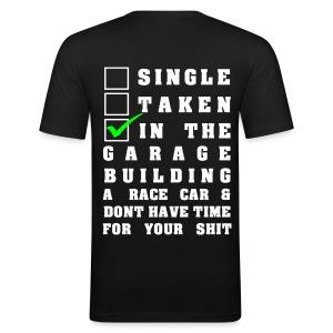 Building a Racecar T-Shirt Design - Männer Slim Fit T-Shirt