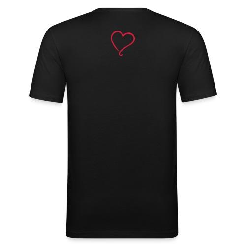 Naiya&Equi Love - Männer Slim Fit T-Shirt