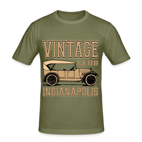 Vintage car club 02 - Men's Slim Fit T-Shirt