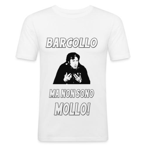 BARCOLLO aderente bianca - Maglietta aderente da uomo